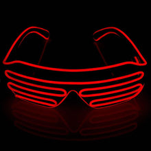 Load image into Gallery viewer, Neon Red LED Grill Glasses