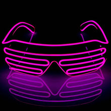 Load image into Gallery viewer, Neon Pink LED Grill Glasses