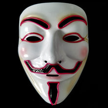 Load image into Gallery viewer, Purple LED Vendetta Mask