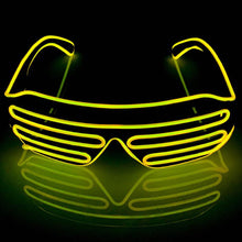 Load image into Gallery viewer, Neon Yellow LED Grill Glasses