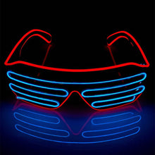 Load image into Gallery viewer, Neon Red/Blue LED Grill Glasses