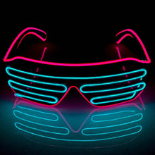 Load image into Gallery viewer, Neon Pink/Blue LED Grill Glasses