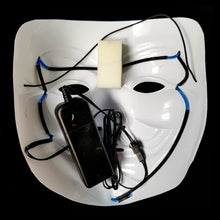 Load image into Gallery viewer, Blue LED Vendetta Mask