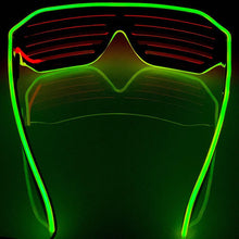 Load image into Gallery viewer, Neon Yellow/Red LED Grill Glasses