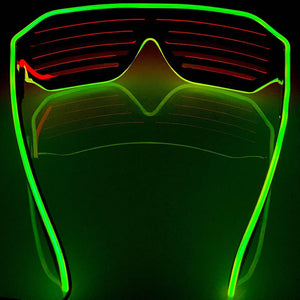 Neon Yellow/Red LED Grill Glasses