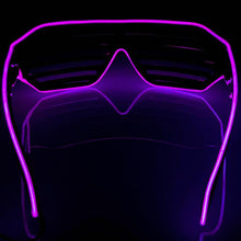 Load image into Gallery viewer, Neon Purple LED Grill Glasses