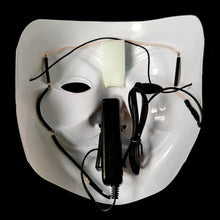 Load image into Gallery viewer, White LED Vendetta Mask