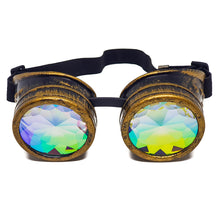 Load image into Gallery viewer, Brushed Gold Kaleidoscope Goggles
