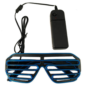 Neon Blue LED Grill Glasses