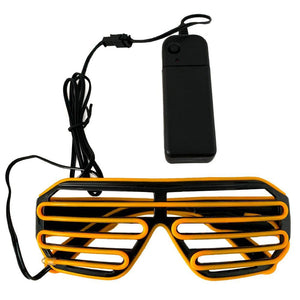 Neon Yellow LED Grill Glasses