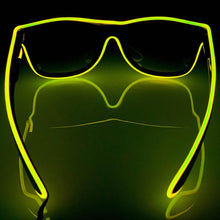 Load image into Gallery viewer, Neon Yellow LED Glasses