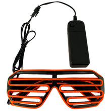 Load image into Gallery viewer, Neon Orange LED Grill Glasses