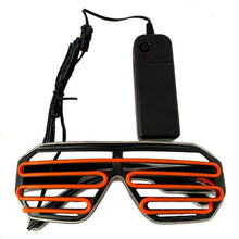 Load image into Gallery viewer, Neon Blue/Orange LED Grill Glasses