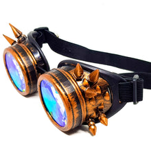 Load image into Gallery viewer, Brushed Copper Steampunk Kaleidoscope Goggles V2