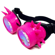 Load image into Gallery viewer, Pink Steampunk Kaleidoscope Goggles V2