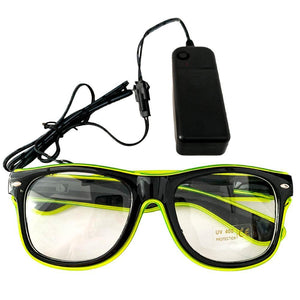 Neon Green LED Glasses