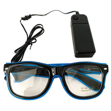 Load image into Gallery viewer, Neon Blue LED Glasses