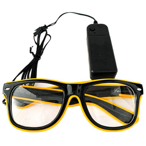 Neon Yellow LED Glasses