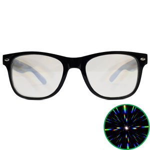 Black Wayfarer Ultimate Diffraction Glasses