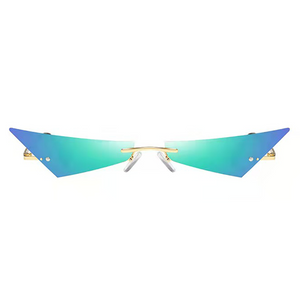 Blue Cat Eyes Sunglasses