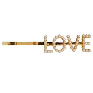 Gold LOVE Hair Clip