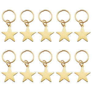 Gold Star Hair Rings