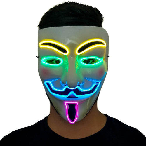 Multicolour LED Vendetta Mask