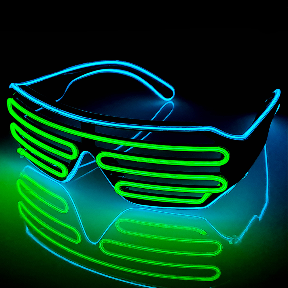 Blue/Green LED Grill Glasses