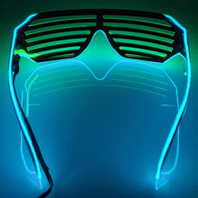 Load image into Gallery viewer, Blue/Green LED Grill Glasses