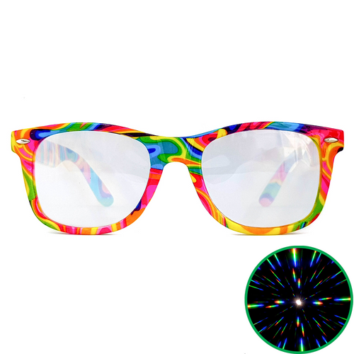 Psychedelic Wayfarer Ultimate Diffraction Glasses