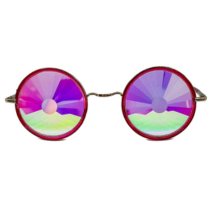 Red Wormhole Kaleidoscope Glasses