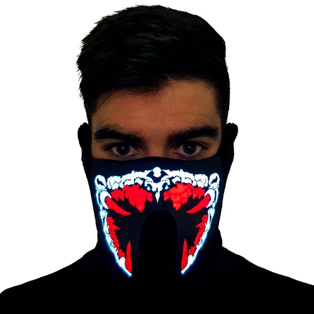 Red Predator LED Sound Activated Mask