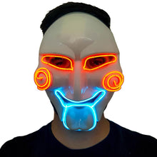 Load image into Gallery viewer, Saw LED Villain Mask