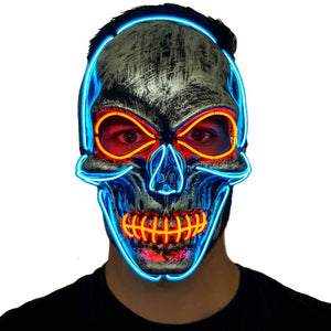 Skeleton LED Villain Mask
