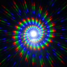Load image into Gallery viewer, White Wayfarer Spiral Diffraction Glasses