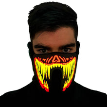 Load image into Gallery viewer, Lava Venom LED Sound Activated Mask