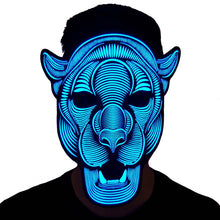 Load image into Gallery viewer, Leopard LED Sound Activated Flat Mask
