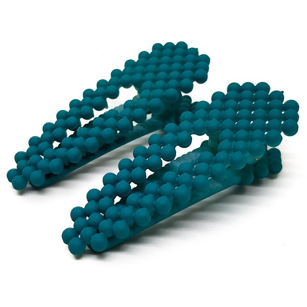 Turquoise Beaded Hair Clips