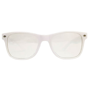 White Wayfarer Ultimate Diffraction Glasses