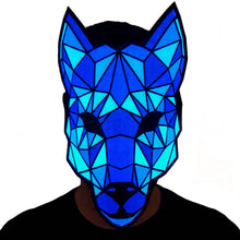 Load image into Gallery viewer, Wolf LED Sound Activated Flat Mask