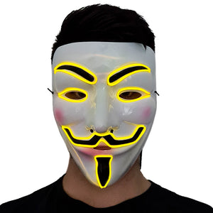 Yellow LED Vendetta Mask