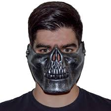 Brushed Silver Monster Mask