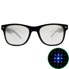 Load image into Gallery viewer, Black Wayfarer Diffraction Glasses