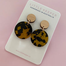 Load image into Gallery viewer, Acrylic Disk Drop Earrings