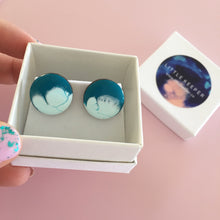 Load image into Gallery viewer, Inked Boxed Round Earrings