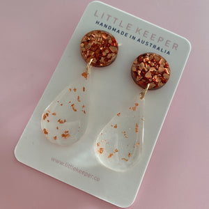 Inked Slim Drop Earrings