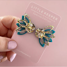 Load image into Gallery viewer, Lotus Statement Studs - Layered