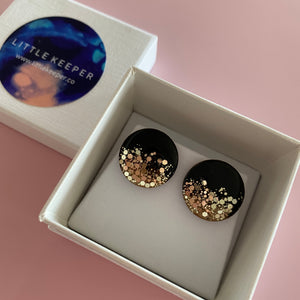 Inked Boxed Round Earrings