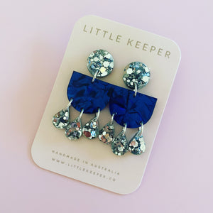 Soirée triple teardrop Earrings