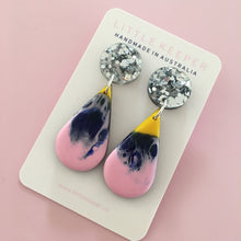 Load image into Gallery viewer, Inked Slim Drop Earrings